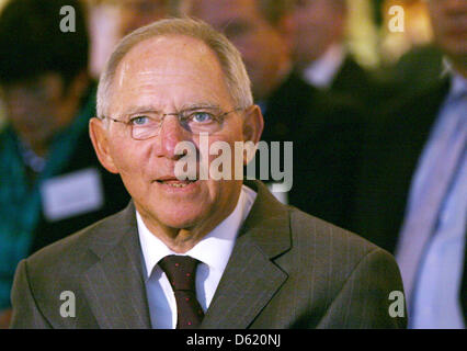 German Minister of Fianance Wolfgang Schaeuble attends the 50th conference of accountants in Berlin, Germany, 7 - Stock Photo