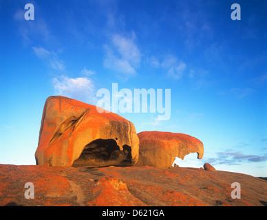 South Australia, Kangaroo Island, Flinders Chase National Park, view of Remarkable Rocks - Stock Photo