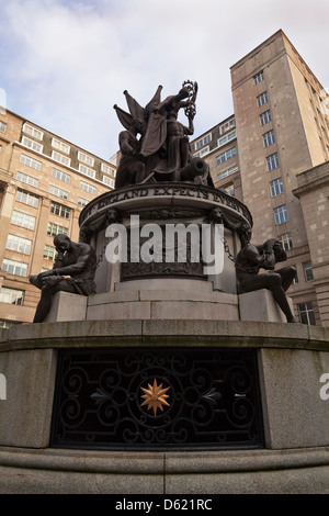 Nelson Monument, by J. C. F. Rossi,  Exchange Flags,  Liverpool, Merseyside, England - Stock Photo