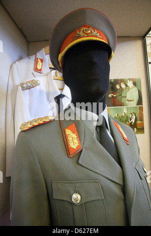 Display in Stasi Museum dedicated to exposing the oppressive rule of Germany's secret police during the post - Stock Photo