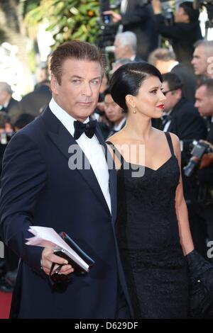 Actor Alec Baldwin and Hilaria Thomas arrive at the opening of the 65th Cannes Film Festival at Palais des Festivals - Stock Photo