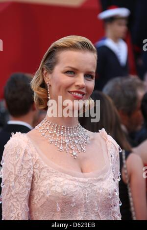 Model Eva Herzigova arrives at the opening of the 65th Cannes Film Festival at Palais des Festivals in Cannes, France, - Stock Photo