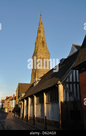 Cathedral and Guild Hall, Leicester, England, UK - Stock Photo