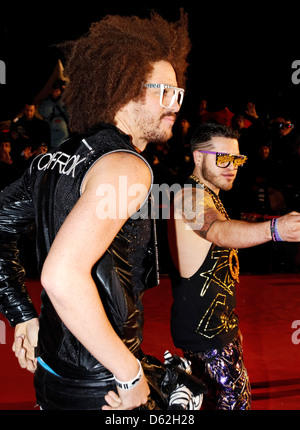 Redfoo and Sky Blu from LMFAO NRJ Music Awards - Arrivals Cannes, France - 28.01.12 - Stock Photo