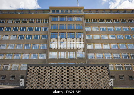 Exterior of 'Haus 1' the ministerial headquarters of the Stasi secret police in Communist East Germany, the GDR. - Stock Photo