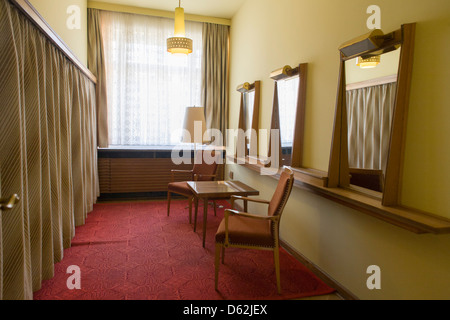 Socialist decor near the conference room where the heads of the GDR secret police met with district administrators, - Stock Photo