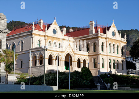 Old government buildings in Wellington, New Zealand - Stock Photo