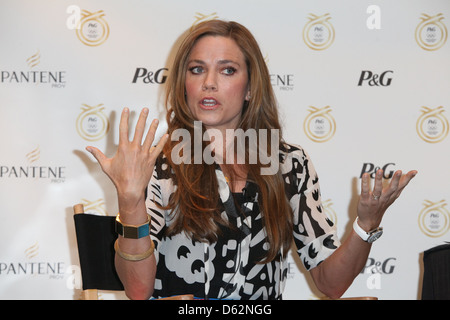 US Olympic Swimmer Natalie Coughlin Pantene anunces new Brand Ambassadors for their hair-care products at the Gansevoort - Stock Photo