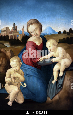 Raphael (1483-1520). Italian painter. The Esterhazy Madonna, 1508. Oil on canvas. Museum of Fine Arts. Budapest. Hungary.