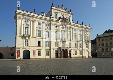 Archbishop's Palace, Hradcanske Namesti, adjacent to Prague Castle, Prague - Stock Photo
