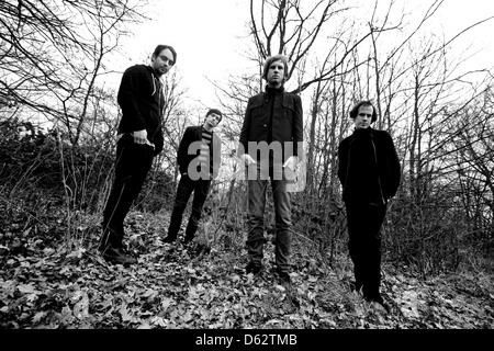 Longview, English indie rock band photographed in Camden, London, England. - Stock Photo
