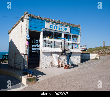Most Southerly Point Gift Shop on the Lizard Peninsula Cornwall England UK 2013 - Stock Photo