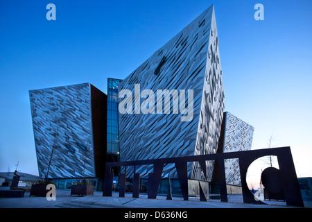 Titanic Building, Belfast, Titanic Quarter, Northern Ireland - Stock Photo