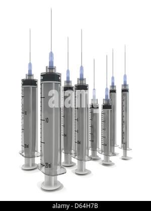 Syringes, artwork - Stock Photo