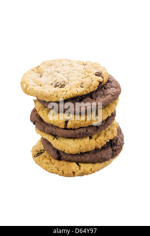 Mixed stack of cookies - Stock Photo