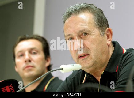 (FILE) An archive photo dated 10 October 2011 shows former head coach of the Belgian national soccer team Georges - Stock Photo