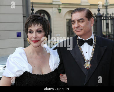 Paul Philippe Hohenzollern and wife Lia  arrives for the opening of Marianne & Sigvard Bernadotte Art Awards Gala - Stock Photo