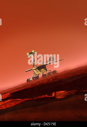 Curiosity rover, artwork - Stock Photo