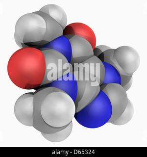 Caffeine drug molecule - Stock Photo