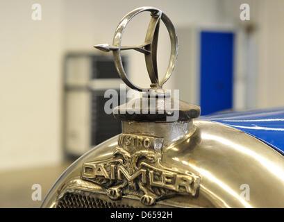 The radiator mascot of an Austro Daimler ADM I Phaeton is pictured in a storehouse in Kallenberg near Stuttgart, - Stock Photo