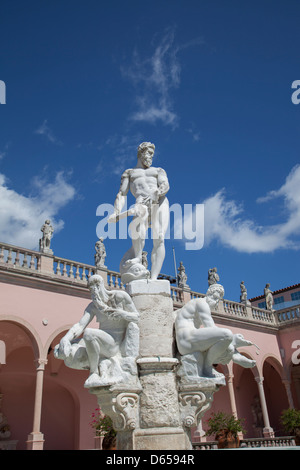 John and Mable Ringling Art Museum Gallery Ca' d'zan Mansion - Stock Photo