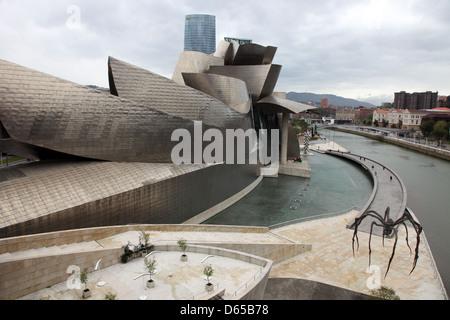 Guggenheim Museum by Frank Gehry, Bilbao, Spain - Stock Photo