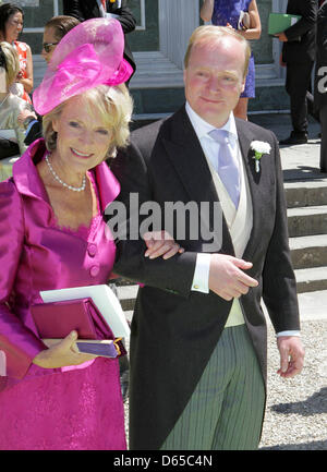 Dutch Princess Irene and Prince Carlos de Bourbon de Parme attend the wedding of Princess Maria Carolina de Bourbon - Stock Photo