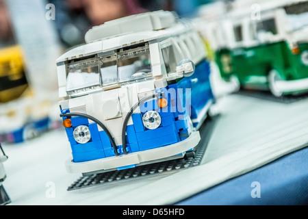 A Lego brick model of VW Camper Van - Stock Photo