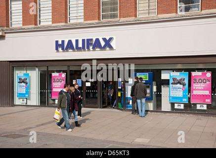 Branch of Halifax Bank Parliament Street York North Yorkshire England UK United Kingdom GB Great Britain - Stock Photo