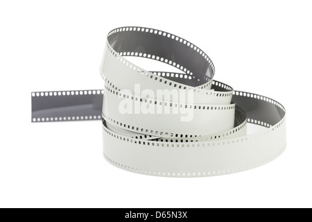 filmstrip roll on white background - Stock Photo