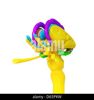 Brain anatomy, artwork - Stock Photo