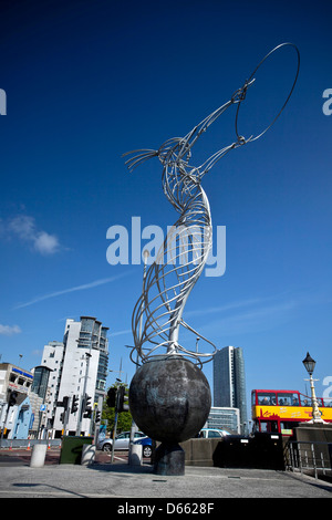 Beacon Of Hope Statue Belfast Northern Ireland - Stock Photo