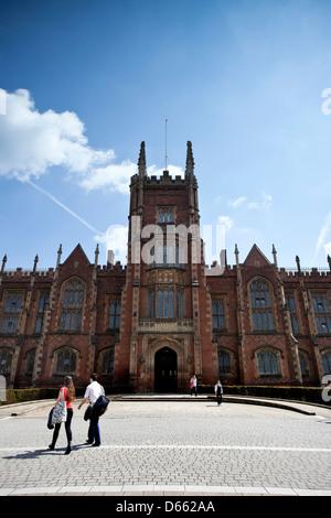 Queen's University Belfast, Northern Ireland - Stock Photo