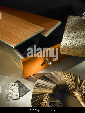Still life, assorted paper products. - Stock Photo