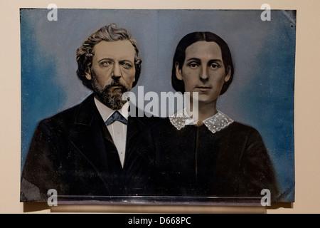 1800s tintype photograph - Stock Photo