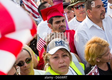 A pro immigration reform rally at the United States Capitol Building.  - Stock Photo