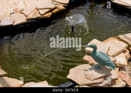 Stone Fountain Pond - Stock Photo