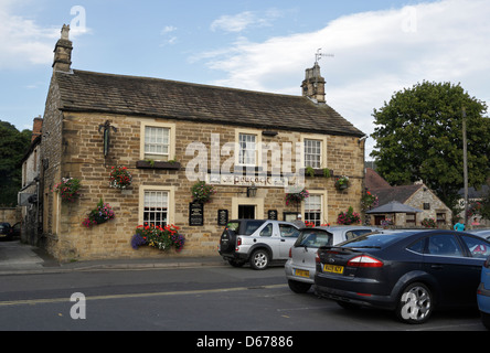 The Peacock Public House (Pub) in Bakewell Derbyshire - Stock Photo