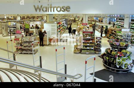 Waitrose Supermarket, Westfield Shopping Centre, Shepherd's Bush, London Borough of Hammersmith and Fulham, Greater - Stock Photo