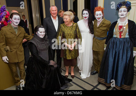 Queen Beatrix of The Netherlands (C) poses with British singer and composer Antony Hegarty (2ndL), US director Robert - Stock Photo