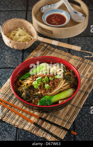 Dan dan noodles Szechuan food China - Stock Photo