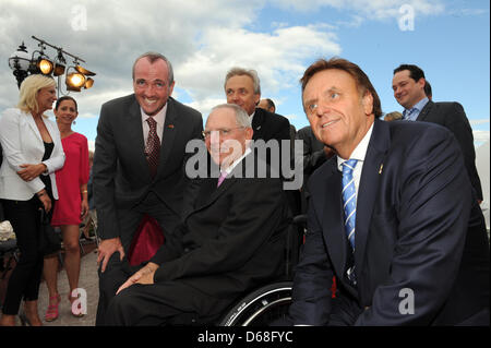 American ambassador in Germany Philip D. Murphy (L-R), German Minister of Finance Wolfgang Schaeuble and managing - Stock Photo