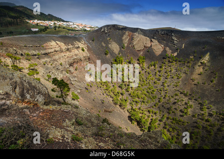 La Palma, Canary Islands - Volcano Park of San Antonio, Fuencaliente, south of island. The crater. - Stock Photo