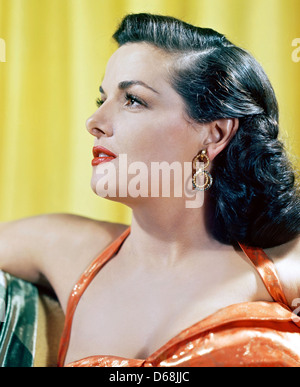JANE RUSSELL (1921-2011) US film actress about 1944 - Stock Photo