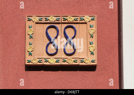 number eighty-eight, house address plate number - Stock Photo