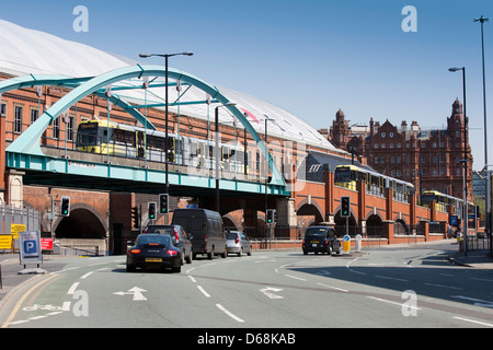 Manchester city centre, Manchester Central (G Mex Gmex G-mex) exhibition centre and converted railway station - Stock Photo