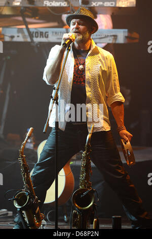 Saxophonist Todd Cooper performs on stage during The Alan Parsons Live Project tour 2012 at Circus Krone in Munich, Germany, 19 July 2012. Photo: Revierfoto