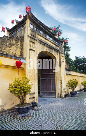 Gate to the Thang Long citadel in Hanoi, Vietnam - Stock Photo