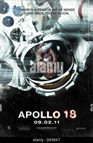 ASTRONAUT POSTER APOLLO 18 (2011) - Stock Photo