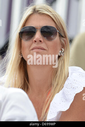 Princess Maxima during the London 2012 Olympic Games dressage competition at Greenwich Park in London, Britain, - Stock Photo